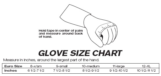 Sparco Glove Sizing Chart