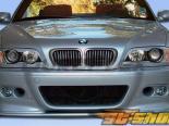 Губа на передний бампер для BMW E46 01-06 M3 HM-S Duraflex