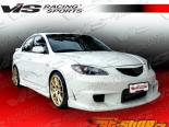 Решётка радиатора Wings для Mazda 3 2010-2012
