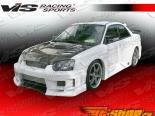 Передний бампер на Subaru Impreza WRX STi 2004-2005 Z Speed Type 2