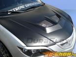 Пластиковый капот на Mazda 3 04-09 EVO Стиль