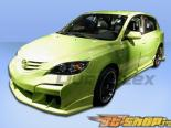 Пороги для Mazda 3 04-09 Raven Duraflex