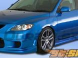 Пороги на  Mazda 3 04-09 I-Spec Duraflex