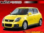 Пороги D Speed на Suzuki Swift 2005-2008