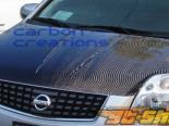 Карбоновый капот на Nissan Sentra 07-10 стандартный Стиль