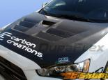 Пластиковый капот на Mitsubishi Lancer Evolution-X 08-10 GT-Concept Стиль