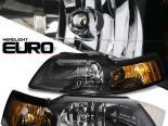 Передние фары для Ford Mustang 99-04 Чёрный