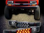 Диодные поворотники для Chevrolet Sonoma 94-04 Чёрный AMBER