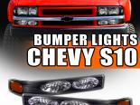 Поворотники для Chevrolet Sonoma 94-04 JDM Чёрный