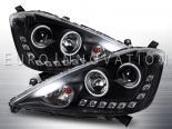 Передняя оптика для Honda Fit 08-12 Halo CCFL Projector Angel Eye Чёрный