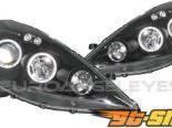 Передние фонари на Honda Fit 08-12 HALO ANGEL EYES PROJECTOR