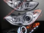 Передние фары на Hyundai Elantra 2010-2012 CCFL HALO PROJECTOR CHROME