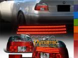 Задние фары на BMW 5 Series E39 97-03 Красный Тёмный