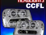 Передняя оптика на Chevrolet Trailblazer 02-09 CCFL HALO PROJECTOR Хром CLEAR