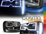 Передние фары на Chevrolet Trailblazer 02-09 HALO PROJECTOR Чёрный
