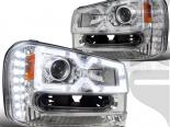 Передние фонари для Chevrolet Trailblazer 02-09 HALO PROJECTOR Хром