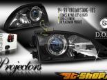 Передняя оптика для Ford Mustang 94-04 Projector Depo Euro Стиль Чёрный