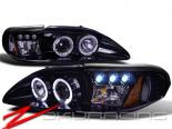 Передняя оптика для Ford Mustang 94-04 HALO PROJECTOR GLOSSY Чёрный