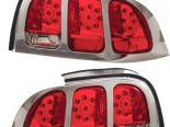 Задняя оптика на Ford Mustang 94-04 Красный Clear