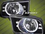 Передняя оптика для Ford Mustang 05-13 HALO ANGEL EYE BLACK