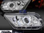Передние фары на Ford Mustang 05-13 HALOGEN VERSION PROJECTOR