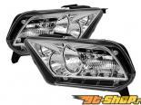Передние фонари для Ford Mustang 05-13 Хром Кристалл