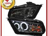 Передние фонари на Ford Mustang 05-13 CCFL PROJECTOR Тёмный