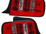 Задние фары на Ford Mustang 05-13 Красный Clear