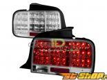 Задние фонари для Ford Mustang 05-13 Хром
