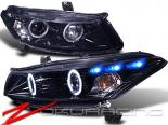 Передние фары для Honda Accord 08-12 PROJECTOR GLOSSY BLACK