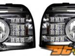 Передняя оптика на Nissan Frontier 98-04 Хром