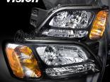 Передняя оптика на Subaru Legacy 00-04 BLACK