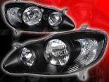 Передняя оптика на Toyota Corolla 03-08 Чёрный