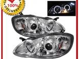 Передняя оптика для Toyota Corolla 03-08 HALO LED PROJECTOR Хром