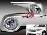 Противотуманная оптика для Toyota Highlander 11-13 CLEAR