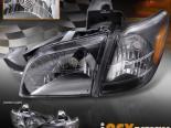 Передние фары для Oldsmobile Silhouette 97-04 Black