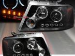 Передние фонари для Ford F-150 05-08 DUAL HALO PROJECTOR Чёрный