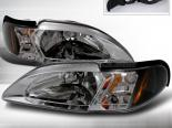 Передние фонари на Ford Mustang 94-98 Чёрный : Spec-D