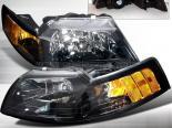 Передние фары для Ford Mustang 99-04 Чёрный : Spec-D