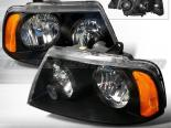 Передние фары для Lincoln Navigator 03-05 Black : Spec-D