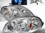 Передние фары на Honda Civic 96-98 Halo Projector Chrome : Spec-D