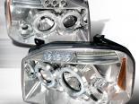 Передние фары для Nissan Frontier 01-04 Frontier Halo Projector Хром: Spec-D