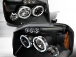 Передние фары для Nissan Frontier 01-04r Halo Projector Чёрный: Spec-D