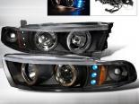 Передняя оптика для Mitsubishi Galant 99-02 Halo Projector Black : Spec-D
