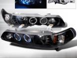 Передние фары на Acura Integra 90-93 Halo Projector Black : Spec-D