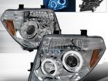 Передние фонари для Nissan Pathfinder 05-06 Halo Projector Хром: Spec-D