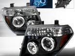 Передние фары для Nissan Pathfinder 05-06 Halo Projector Чёрный: S