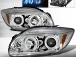 Передние фары для Scion tC 05-07 Halo Projector Chrome : Spec-D