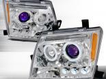 Передняя оптика на  Nissan Xterra 05-07 Halo Projector Хром: Spec-D