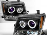 Передние фары на Nissan Xterra 05-07 Projector Чёрный: Spec-